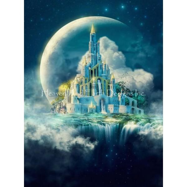 画像1: クロスステッチ キット 28ct Moon Castle Max Colors -HAED(Heaven and Earth Designs) (1)