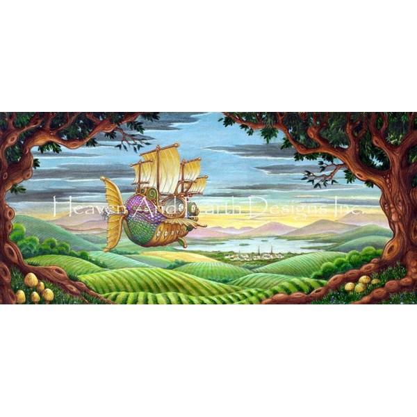 画像1: クロスステッチ図案Sail Away-HAED(Heaven and Earth Designs) (1)