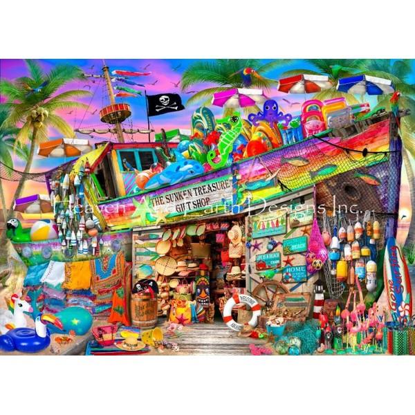 画像1: クロスステッチ図案Shipwreck Gift Shop-HAED(Heaven and Earth Designs) (1)