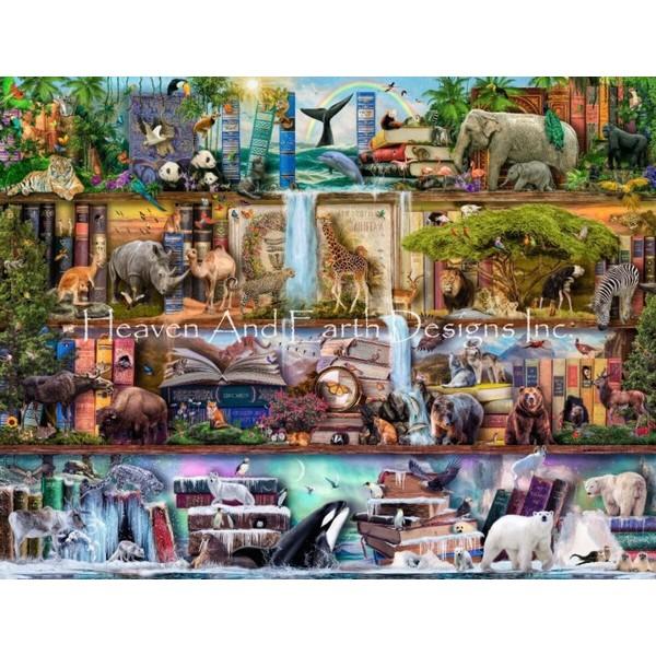 画像1: クロスステッチ図案SS The Amazing Animal Kingdom Max Colors Flipped-HAED(Heaven and Earth Designs) (1)