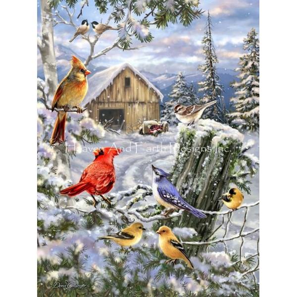 画像1: クロスステッチ図案Frosty Morning Song-HAED(Heaven and Earth Designs) (1)