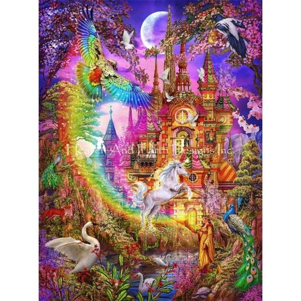 画像1: クロスステッチ図案 Mini Rainbow Castle-HAED(Heaven and Earth Designs) (1)