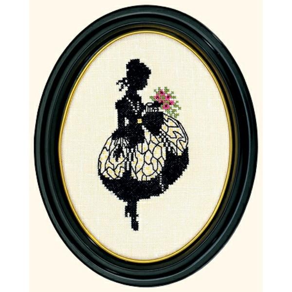 画像1:  クロスステッチキットSilhouette - Lady with Flowers-Eva Rosenstand  (1)
