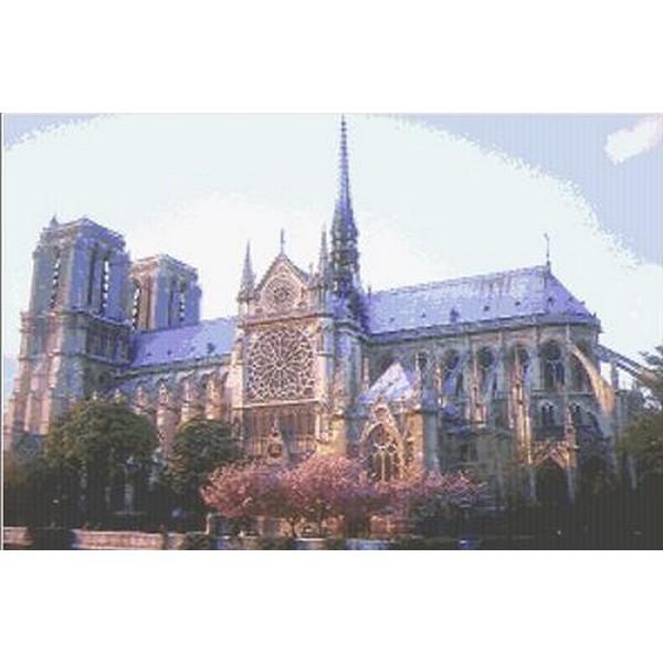 画像1: クロスステッチキットNOTRE DAME CATHEDRAL-Mystic Stitch 14ct ノートルダム大聖堂 (1)