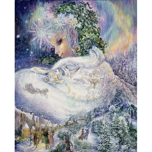 画像1: Supersized Snow Queen JW-HAED(Heaven and Earth Designs)クロスステッチ図案 (1)