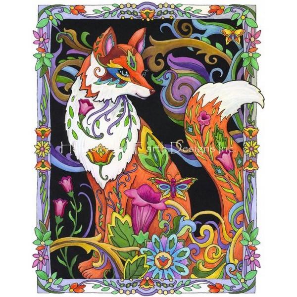 画像1: クロスステッチ図案 Mini Foxy Lady-HAED(Heaven and Earth Designs) (1)