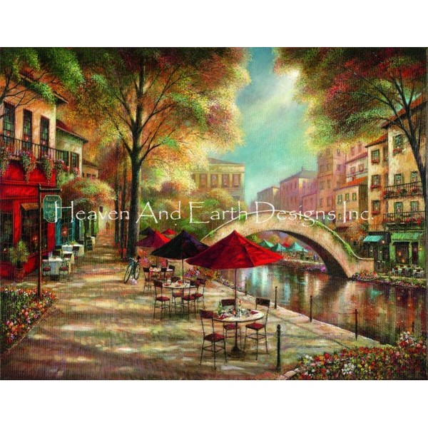 画像1: クロスステッチ図案Riverwalk Charm Max Colors-HAED(Heaven and Earth Designs) (1)