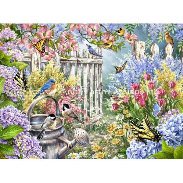 画像1: クロスステッチ図案Garden Gate DG Max Colors-HAED(Heaven and Earth Designs) (1)