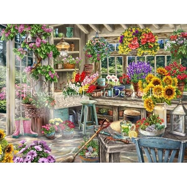 画像1: クロスステッチ図案 Mini Gardeners Paradise-HAED(Heaven and Earth Designs) (1)