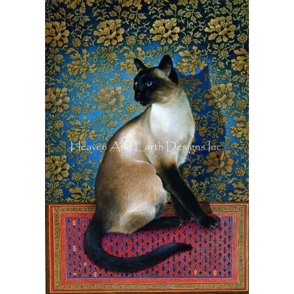 画像1: クロスステッチ図案Phuan on a Chinese Carpet Max Colors-HAED(Heaven and Earth Designs) (1)