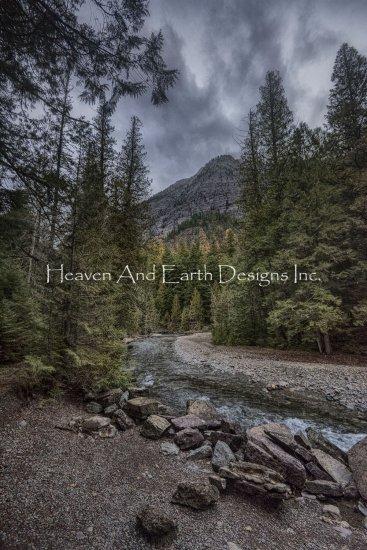 画像1: クロスステッチ図案By The Stream Glacier-HAED(Heaven and Earth Designs) (1)