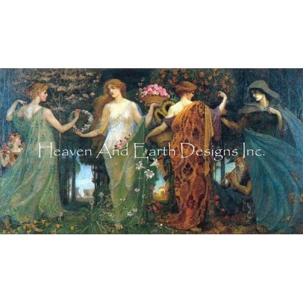 画像1: クロスステッチ図案Mini Mother Maiden And Crone-HAED(Heaven and Earth Designs) (1)