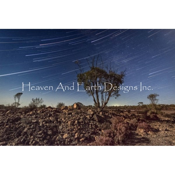 画像1: クロスステッチ図案Dry Star Trails-HAED(Heaven and Earth Designs) (1)