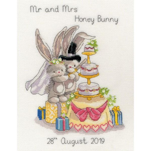 画像1: クロスステッチ キットCutting The Cake Wedding Sampler-Bothy Threads  (1)
