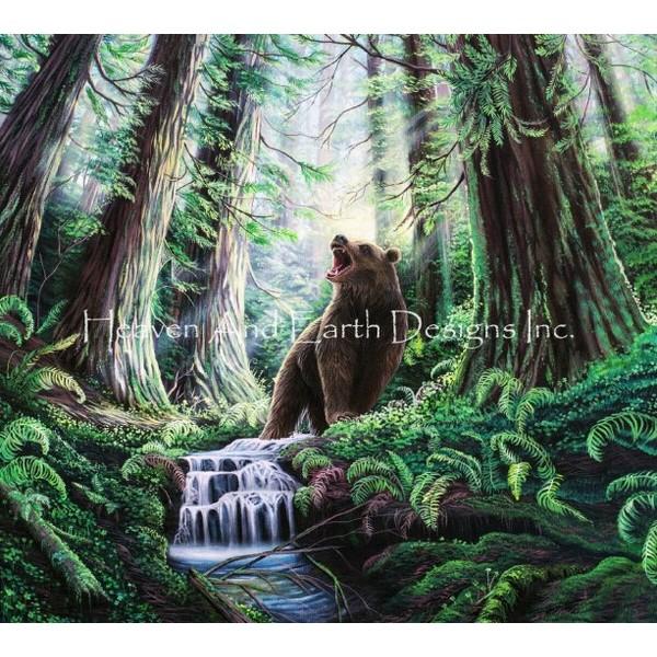画像1: クロスステッチ図案Brown Bear-HAED(Heaven and Earth Designs) (1)