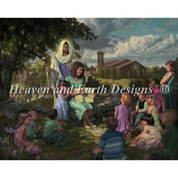 画像1: クロスステッチ図案Our Savior Our Teacher-HAED(Heaven and Earth Designs) (1)