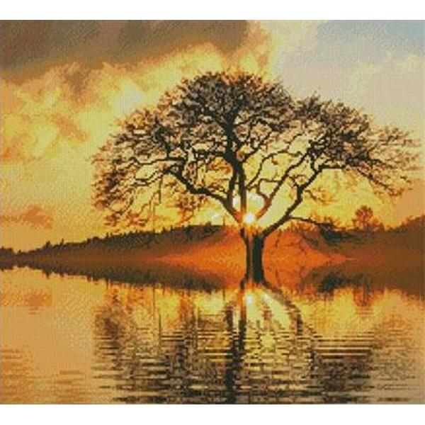 画像1: クロスステッチキットSunny Tree(14ctアイーダ)-Artecy (1)
