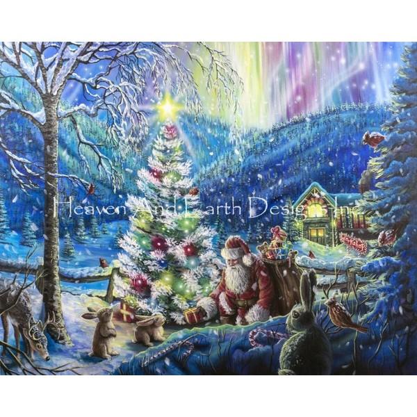 画像1: クロスステッチ図案 Christmas Scene Max Colors-HAED(Heaven and Earth Designs) (1)