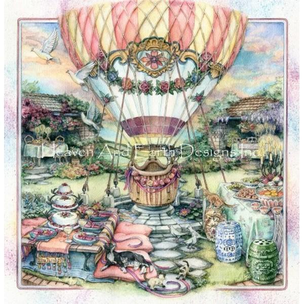 画像1: クロスステッチ図案 Flights Of Fancy Pumped-HAED(Heaven and Earth Designs) (1)