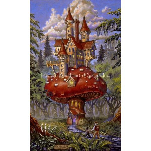 画像1: クロスステッチ図案 Mushroom Inn Color Expansion-HAED(Heaven and Earth Designs) (1)