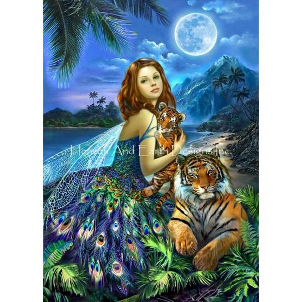 画像1: クロスステッチ図案 Fairyland Max Colors-HAED(Heaven and Earth Designs) (1)