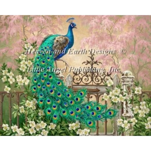 画像1: クロスステッチ キットJewel Of The Garden Two 25ctルガナ -HAED(Heaven and Earth Designs) (1)
