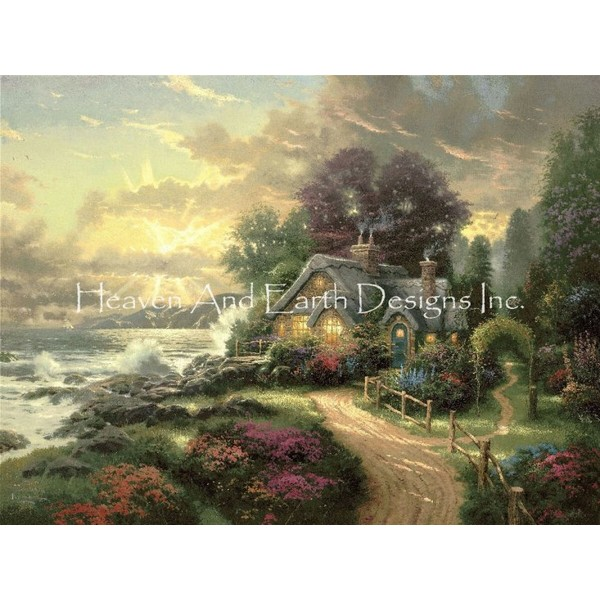 画像1: クロスステッチ図案A New Day Dawning-HAED(Heaven and Earth Designs) (1)