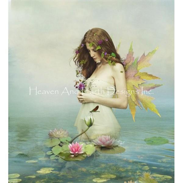 画像1: クロスステッチ図案Mini Violetta-HAED(Heaven and Earth Designs) (1)