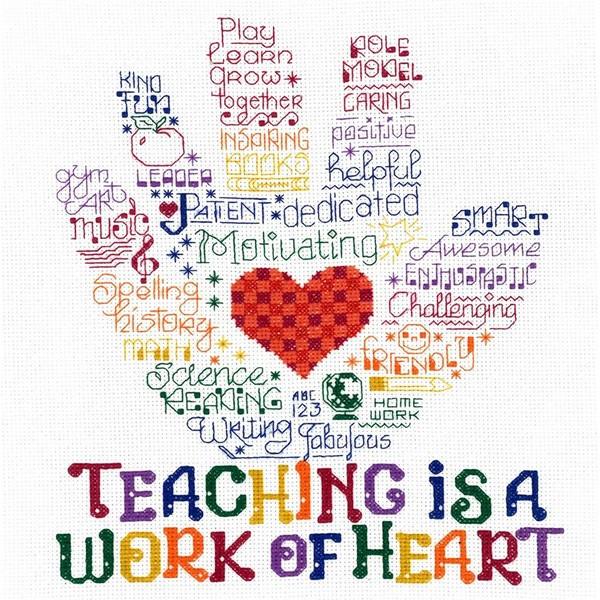 画像1: クロスステッチキット Let's Hug a Teacher-Imaginating 14ctアイーダ  (1)