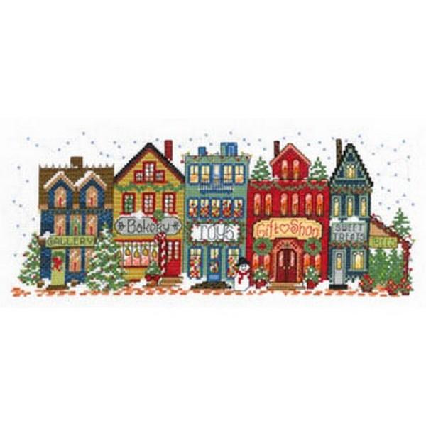 画像1: クロスステッチキット Holiday Main Street - Imaginating 14ctアイーダ  (1)