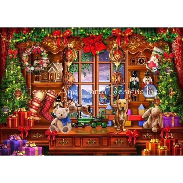 画像1: クロスステッチ図案Ye Old Christmas Shoppe-HAED(Heaven and Earth Designs) (1)