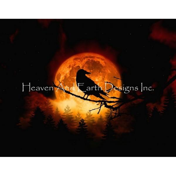 画像1: クロスステッチ図案Harvest Moon JF-HAED(Heaven and Earth Designs) (1)