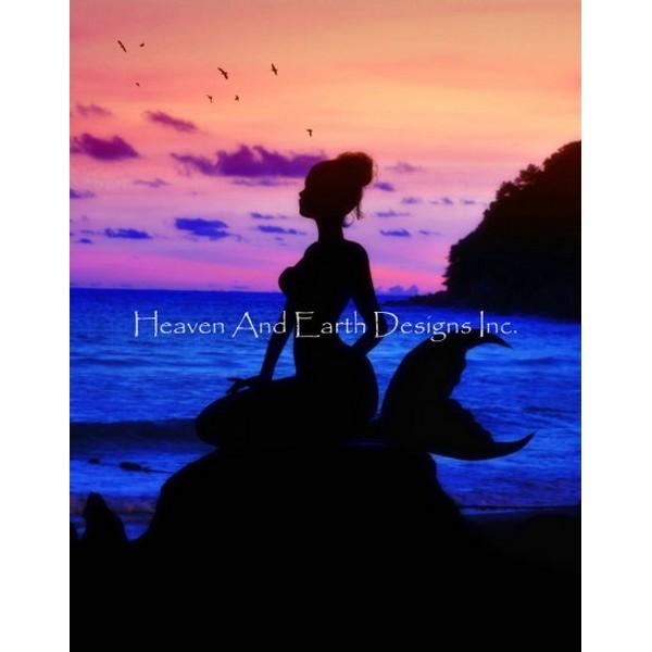 画像1: クロスステッチ図案Mermaid Dreams JF-HAED(Heaven and Earth Designs) (1)