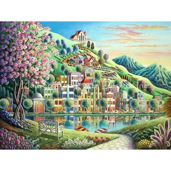 画像1: クロスステッチ図案Blossom Park Max Colors-HAED(Heaven and Earth Designs) (1)