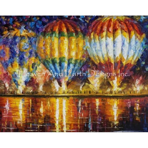 画像1: クロスステッチ図案Balloon Reflections Max Colors-HAED(Heaven and Earth Designs) (1)