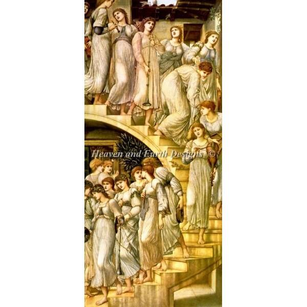 画像1: クロスステッチ図案The Golden Stairs-HAED(Heaven and Earth Designs) (1)