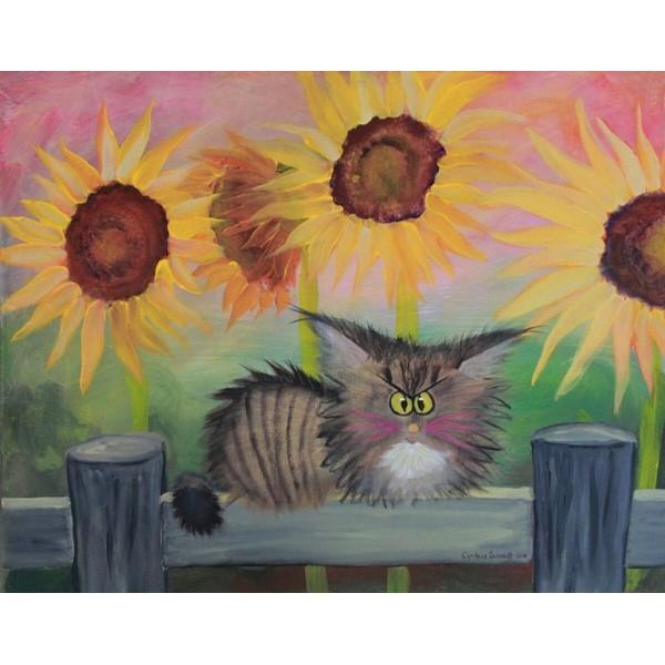 画像1: クロスステッチ図案Cranky Stella Sunflowers -HAED(Heaven and Earth Designs) (1)