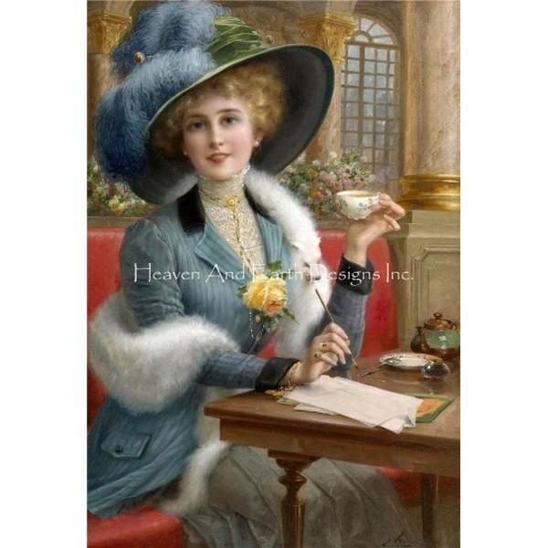 画像1: クロスステッチ図案The Elegant Lady -HAED(Heaven and Earth Designs) (1)