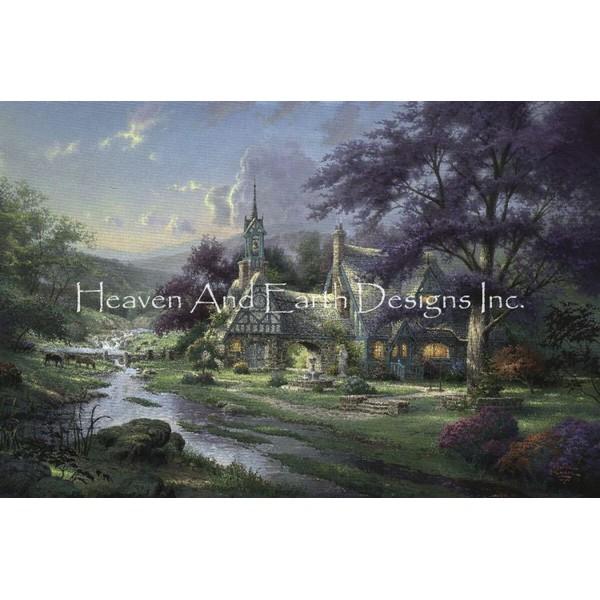 画像1: クロスステッチ図案Clocktower Cottage Max Colors-HAED(Heaven and Earth Designs) (1)