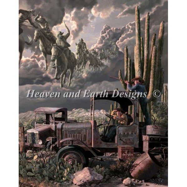画像1: クロスステッチ図案Heroes and Villains-HAED(Heaven and Earth Designs) (1)