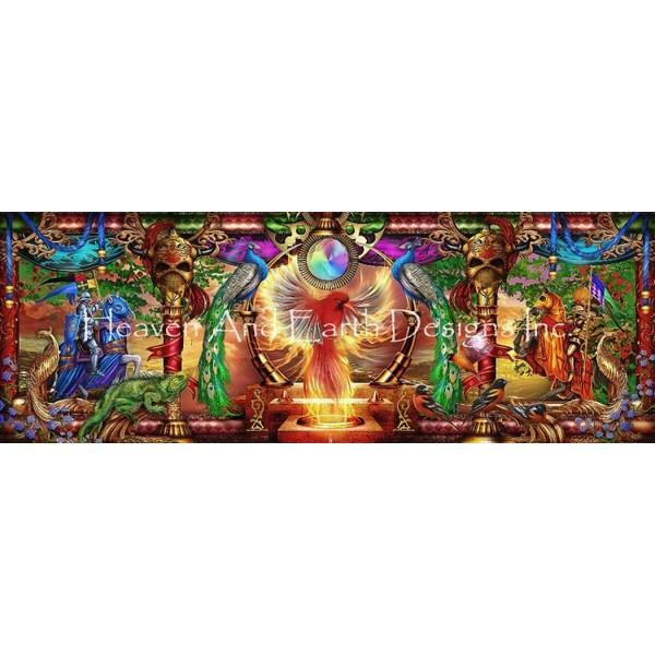 画像1: クロスステッチ図案Firebird Panoramic-HAED(Heaven and Earth Designs) (1)