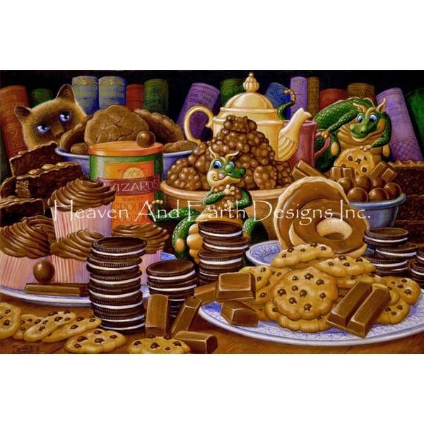 画像1: クロスステッチ図案Supersized Chocolate Chocolate and More Chocolate Max Colors-HAED(Heaven and Earth Designs) (1)