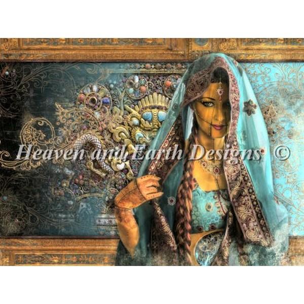 画像1: クロスステッチ キットPriya 28ctルガナ -HAED(Heaven and Earth Designs) (1)