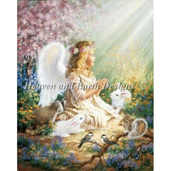 画像1: クロスステッチ図案Mini An Angels Spirit-HAED(Heaven and Earth Designs) (1)