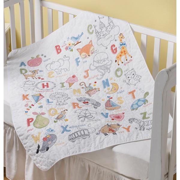 画像1: クロスステッチ キット ABC Baby Crib Cover ベビーベッドカバー-Bucilla (1)
