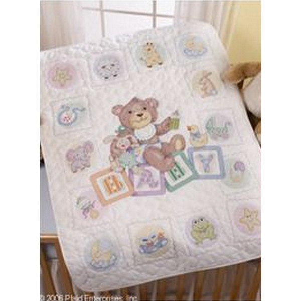 画像1: クロスステッチ キット Baby Blocks Crib Cover Crib Cover ベビーベッドカバー-Bucilla (1)