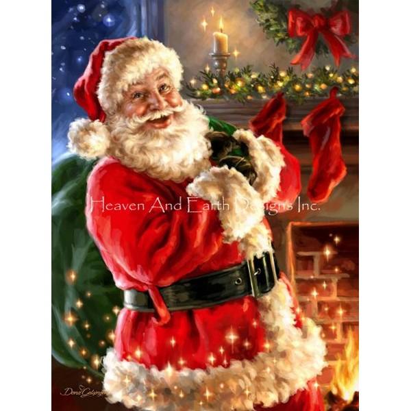 画像1: クロスステッチ図案 Twas The Night Before Christmas DG-HAED(Heaven and Earth Designs) (1)