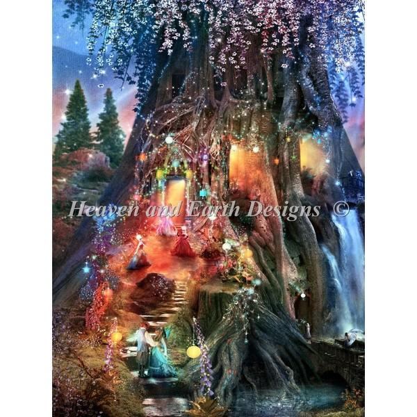 画像1: クロスステッチ図案 Foxglove Ball Max Color-HAED(Heaven and Earth Designs) (1)