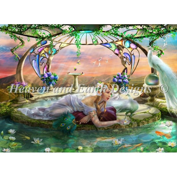 画像1: クロスステッチ キット 25ct Sanctuary Max Colors -HAED(Heaven and Earth Designs) (1)