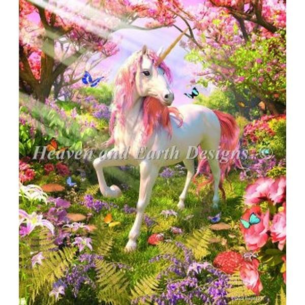 画像1: クロスステッチ キット Mini Unicorn Spring -HAED(Heaven and Earth Designs) (1)